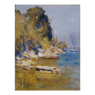 Arthur Streeton - From my camp (Sirius Cove) Poster
