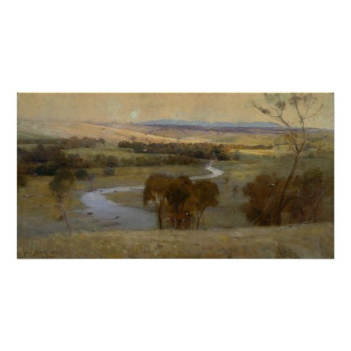 Arthur Streeton - 'Still_glides_the stream, and_sh Posters