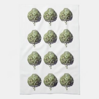 Arthur the Artichoke printed kitchen towel