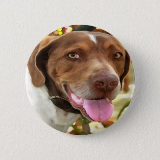 Arthur The Hunting Dog 6 Cm Round Badge