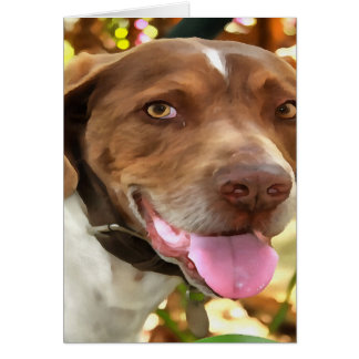 Arthur The Hunting Dog Card