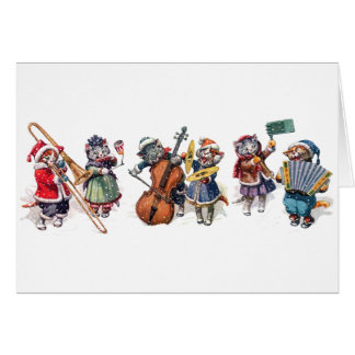 Arthur Thiele -  Cats Play Orchestra in the Snow. Card