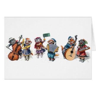 Arthur Thiele - Cats Playing Musical Instruments Card