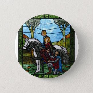 Arthurian Window 6 Cm Round Badge