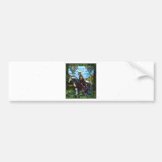 Arthurian Window Bumper Sticker