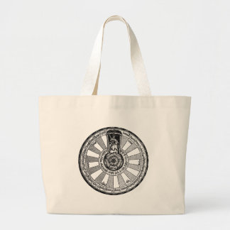 Arthur's round table large tote bag