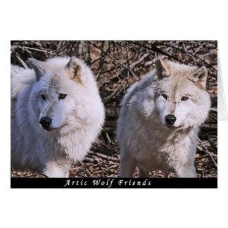 Artic Wolf Buddies Card