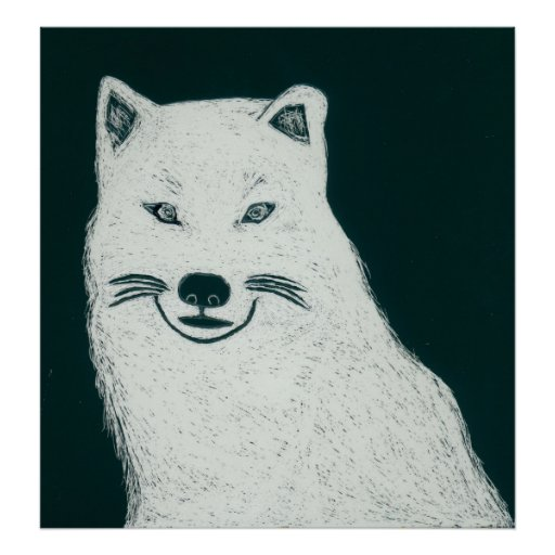 Artic wolf posters