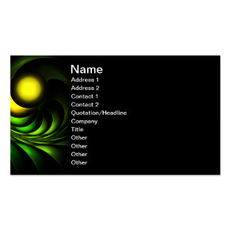 Artichoke Abstract Fractal Artwork Double-Sided Standard Business Cards (Pack Of 100)