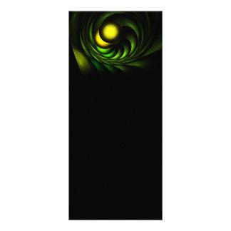 Artichoke Abstract Fractal Artwork Personalized Rack Card