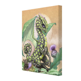Artichoke Dragon 8x10 Canvas Print