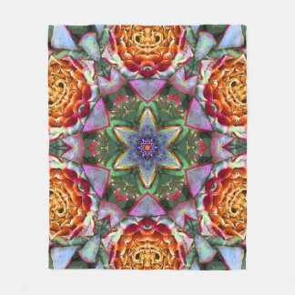 Artichoke Flower Mandala Fleece Blanket