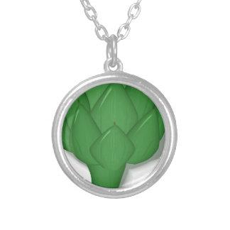 Artichoke Silver Plated Necklace