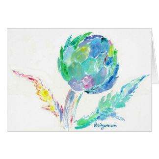 Artichoke Song Fine Art Painting Card