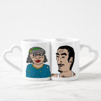 Artie and Brenda DeKaplany Lovebirds Mug Set Lovers Mug