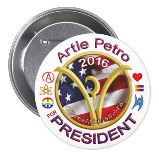 Artie for President 7.5 Cm Round Badge