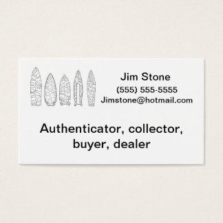 Artifact collector business card