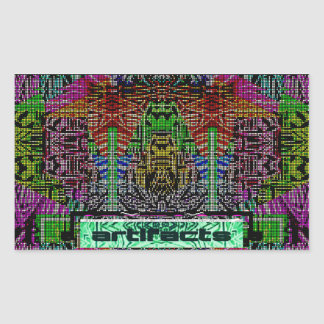 artifacts 8 bit hero rectangular sticker