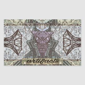 artifacts dogfaced masked guide rectangular sticker
