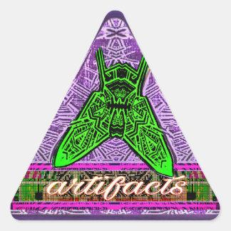 artifacts-triangular fly sticker 6