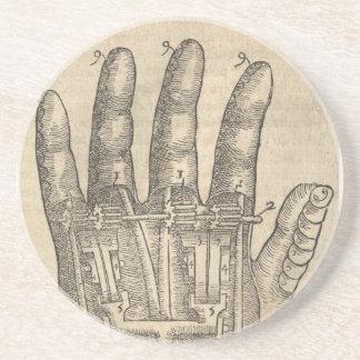 Artifical hand coaster