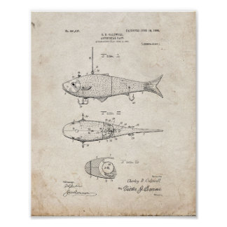 Artificial Bait Patent - Old Look Poster