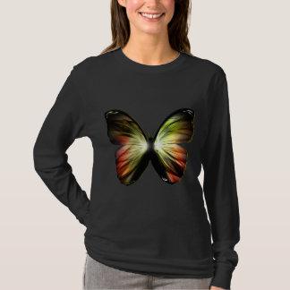 Artificial Butterfly Black Long Sleeve T-Shirt