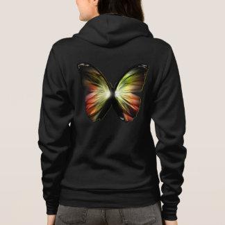 Artificial Butterfly Zip Hoodie