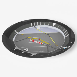 artificial horizon paper plate