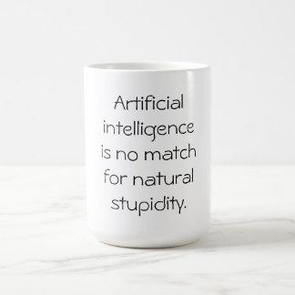 Artificial intelligence basic white mug