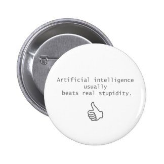 artificial intelligence beats real stupidity buttons