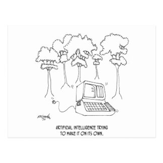 Artificial Intelligence Cartoon 3633 Postcard