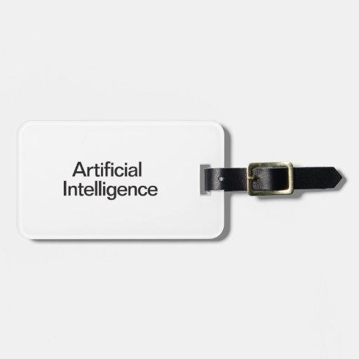 Artificial Intelligence Travel Bag Tag