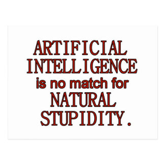Artificial intelligence postcard