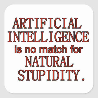 Artificial intelligence square sticker