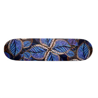 Artificial Leaves Composition Custom Skate Board