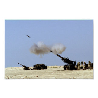 Artillery Fire Poster