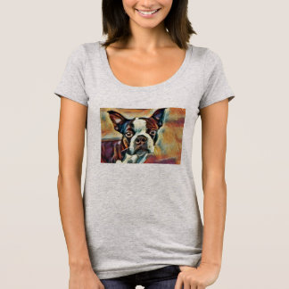 Artisan Boston Terrier Womens T-Shirt
