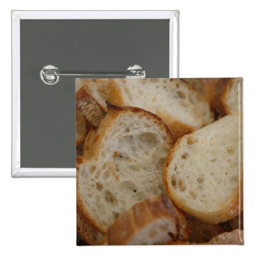 Artisan Bread Slices Pinback Button