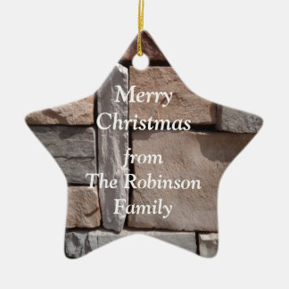 Artisan Masonry Family Christmas Ceramic Ornament