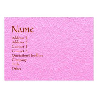 Artisan PINK Engraved Design Pack Of Chubby Business Cards