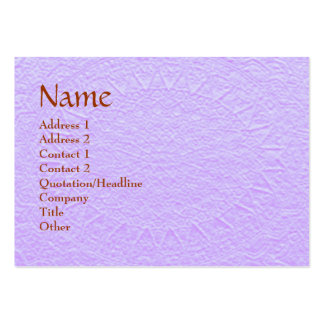 Artisan PURPLE Engraved Design Pack Of Chubby Business Cards