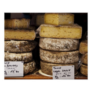 artisan regional french cheeses print