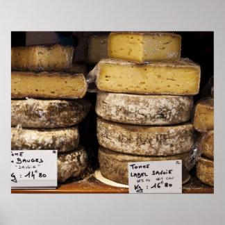 artisan regional french cheeses print