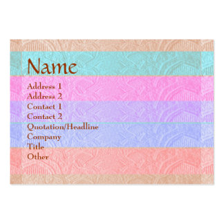 Artisan Stripes Engraved Design Pack Of Chubby Business Cards
