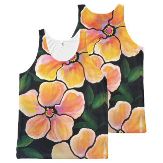 "Artisan_Wear - Unisex Tank in ""Evening Hibiscus"""