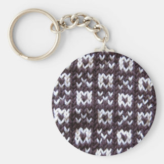 Artisanware Knit Kisses and Hugs Basic Round Button Key Ring