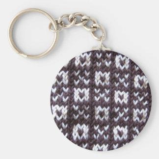 Artisanware Knit Kisses and Hugs Key Ring