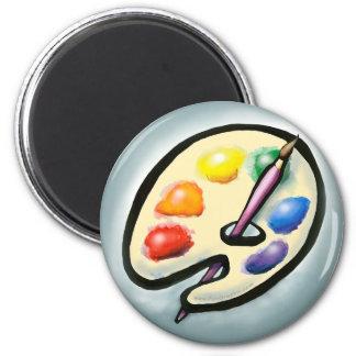 Artist 6 Cm Round Magnet