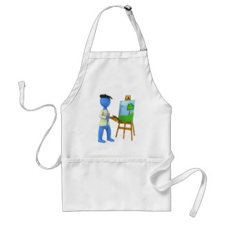 Artist and Easel Apron